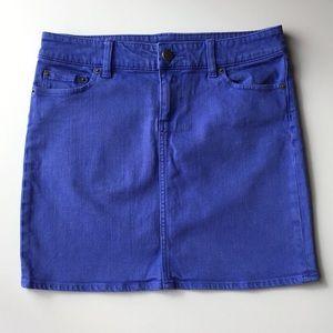 J. CREW stretch 5-pocket denim skirt Size 4